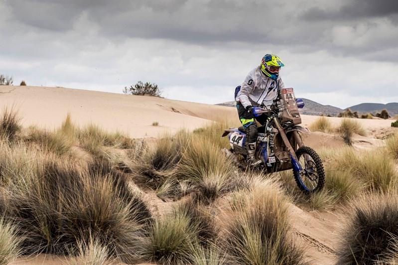 Shaun Kazama privé engagé sur une 450 WRF sur le Dakar 2018