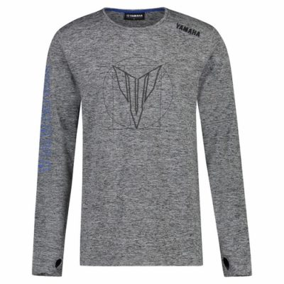 T-shirt Yamaha Hypernaked Gris Manches longues