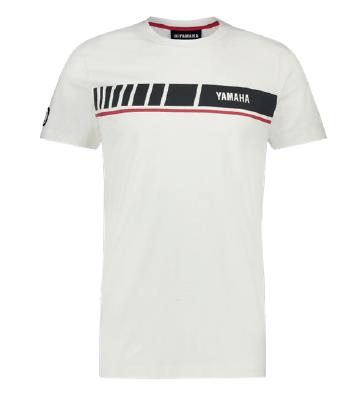 T-shirt Yamaha REVS 2019 Blanc grand logo
