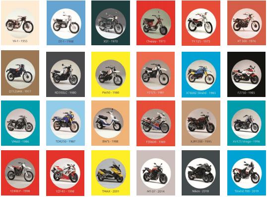 calendrier de l'avent Yamaha 2019 modeles yamaha représentés