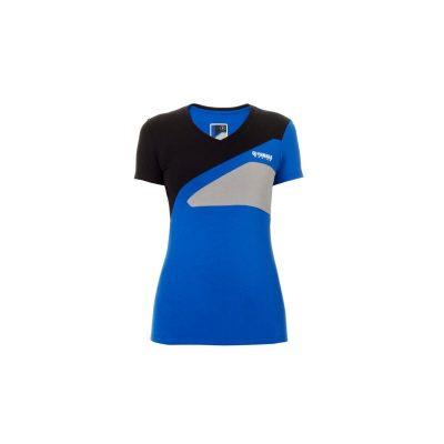 T-shirt Bleu Noir Yamaha Paddock femme