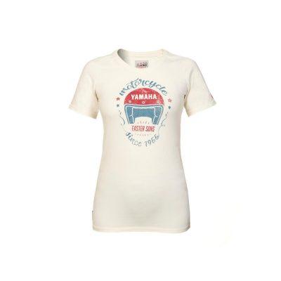 T-shirt Faster Sons Yamaha Beige Femme