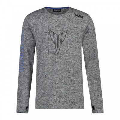 T-shirt Hypernaked gris Yamaha manhces longues