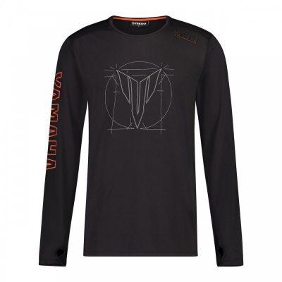 T-shirt Hypernaked noir manhces longues Yamaha