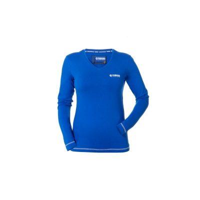 T-shirt Yamaha Femme Bleu Manches longues