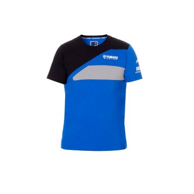 t-shirt Yamaha Paddock Bleu noir