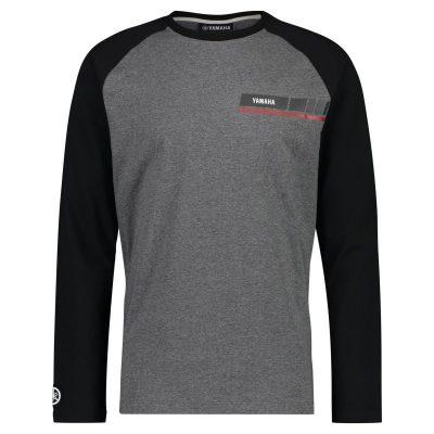 T-shirt Yamaha REVS noir gris homme Manches longues
