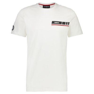 T-shirt Yamaha Revs Blanc petit logo