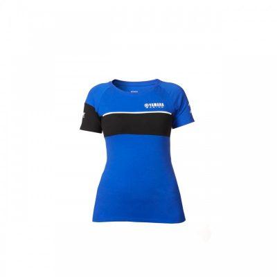 t-shirt Bleu Noir Yamaha Femme
