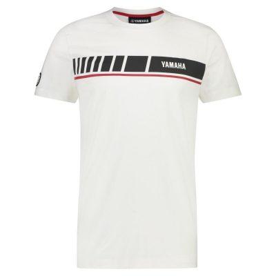 t-shirt Yamaha REVS Blanc grand logo Homme