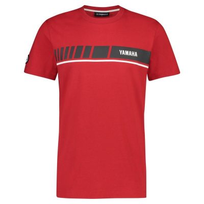 t-shirt Yamaha REVS Rouge grand logo Homme